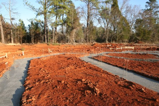 Booth footings (from Booth A)