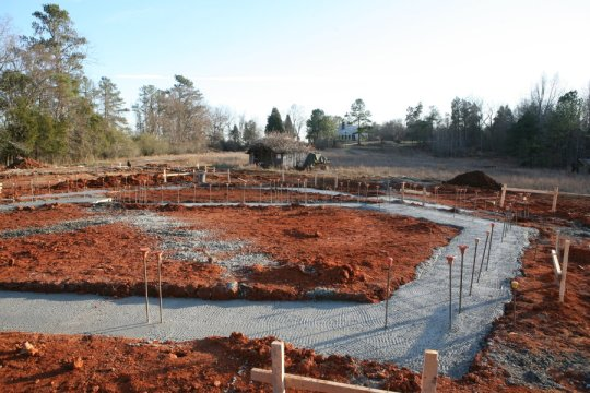 Music Room footings, western end